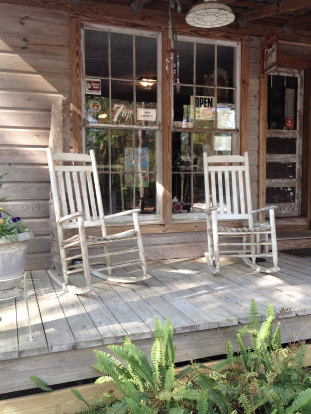 We loved the rocking chairs and the quaint office.